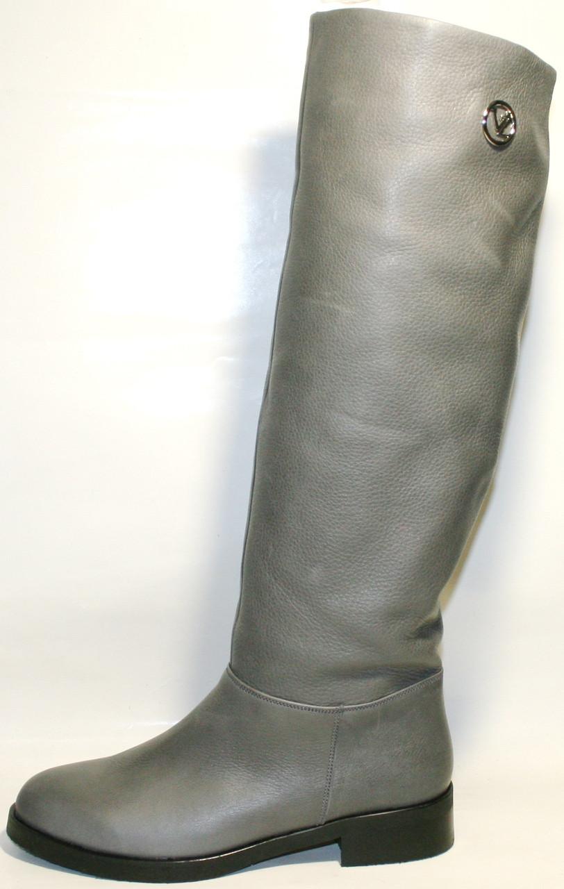 8f36d0d60 Сапоги женские демисезонные кожаные серые El Passo от