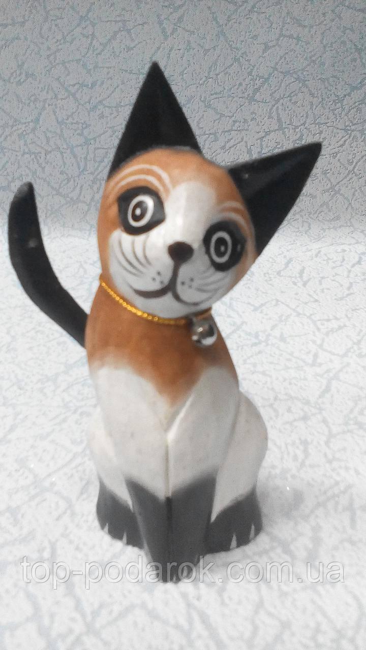 Статуэтка кошка деревянная высота 12 см
