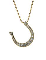 """Кулон """"Подкова"""" с кристаллами Swarovski, покрытый золотом с родием (j660q900)"""