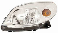 Фара левая H4 хром. мех./эл. Рено Сандеро (Renault Sandero) 2008-2013