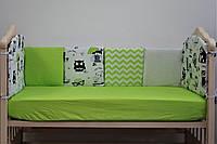 Бортик-защита в кроватку из натуральных тканей «Joy» (10 ед.) ТМ Lux Baby