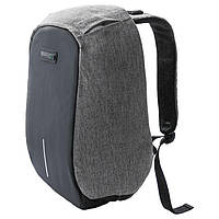 Рюкзак для ноутбука 16' RS-525, Black/Grey, с защитой от проникновения и функцией подзарядки гаджетов, полиэстер, 400 x 265 x 25 мм