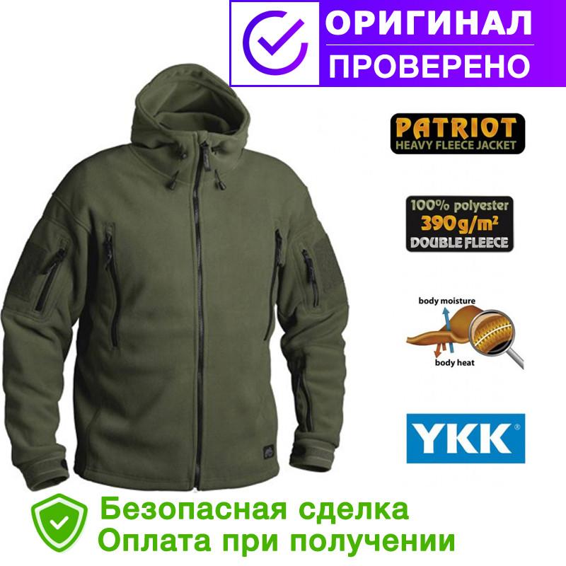 Флисовая кофта с капюшоном Helikon-Tex Patriot Heavy Fleece Jacket-Olive Green S, M, L, XL, XXL, 3XL/regular