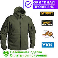 Флисовая кофта с капюшоном Helikon-Tex Patriot Heavy Fleece Jacket-Olive Green S, M, L, XL, XXL, 3XL/regular