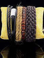 Плетеный браслет в этническом стиле