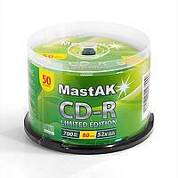 Диск MastAK CD-R 700Mb 52x (50 шт.)
