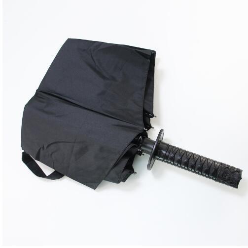 Зонтик с рукояткой самурайского меча! Зонт катана складной!