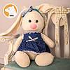 Заяц Тильда Бася синий мягкая игрушка, фото 6