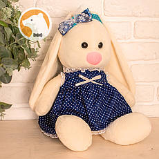 Заяц Тильда Бася синий мягкая игрушка