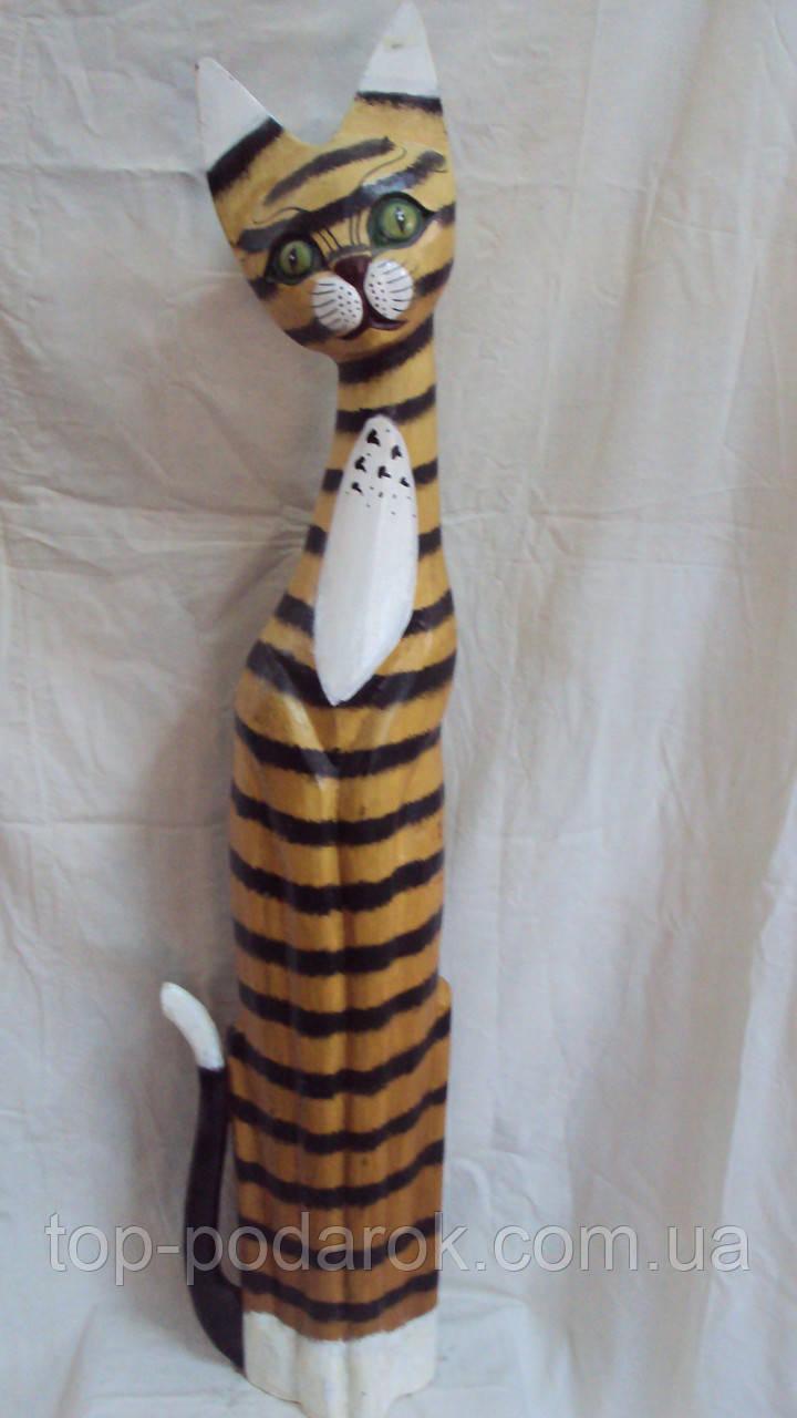 Статуэтка кошка деревянная высота 100 см, фото 1