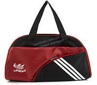 Спортивная  стильная женская сумка для тренировок art. 152 (101396) черная/красная Украина
