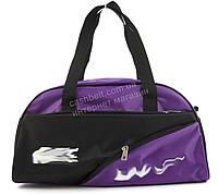 Спортивная  стильная женская сумка для тренировок art. 152 (101399) фиолетовая/черная Украина