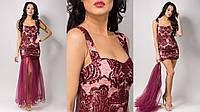 Платье со съемной шифоновой юбкой в расцветках 15171