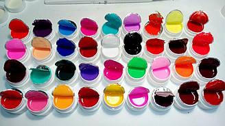Набор 36 шт гелей цветных Coco.