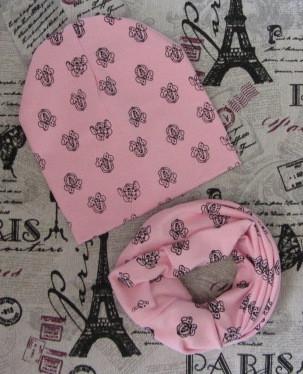 Демісезонний набір: дитяча шапка і шарф-хомут