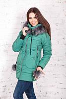 Теплая брендовая женская куртка от производителя