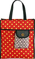 Стильна женская сумка для покупок в горошек Traum 7011-40 красный