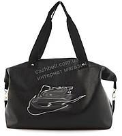 Спортивная  стильная женская сумка для тренировок с эко кожи art. 8 (101404) черная Украина