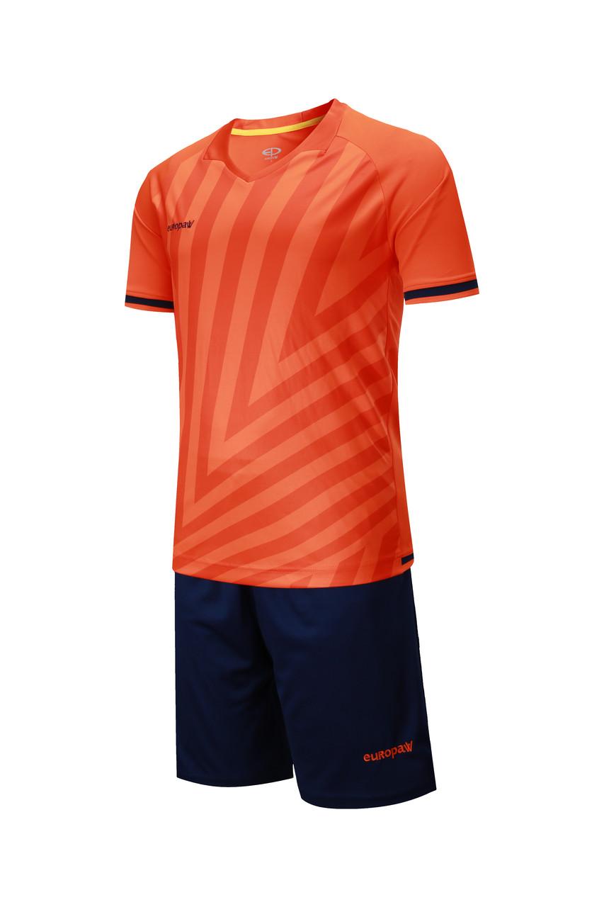 Детская футбольная форма Europaw 016 кораллово-т.синяя