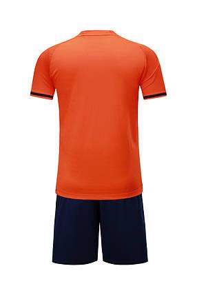 Подростковая футбольная форма Europaw 016 кораллово-т.синяя , фото 2