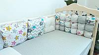Защита на детскую кроватку «Joy» комбинированный ТМ Lux Baby