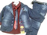 Нарядный джинсовый костюм на мальчика  , рост 86-104 см.