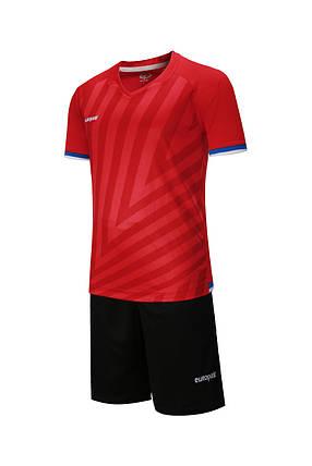 Футбольная форма Europaw 016 красно-черная, фото 2