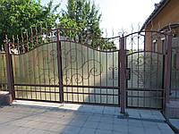 """Кованые ворота и калитка """" Элегия """""""