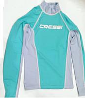Мужская лайкровая футболка для плавания с уф защитой Cressi Rash Guard; длинный рукав