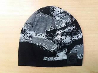 Детская серая шапка наобхват головы 48-52 см