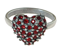"Кольцо ""Кер"" с кристаллами Swarovski, покрытое серебром (e7673016)"