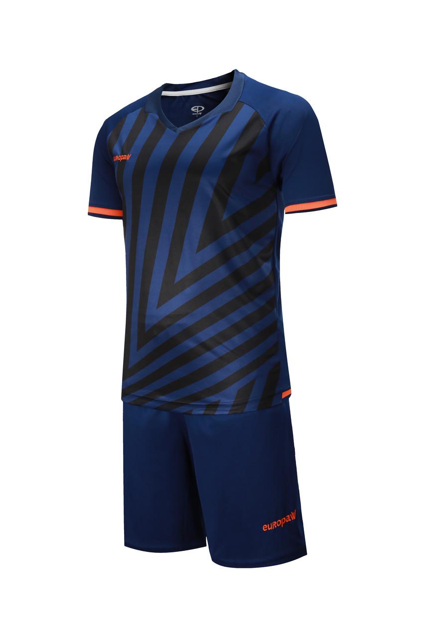 Футбольная форма Europaw 016 т.сине-оранжевая