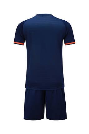 Футбольная форма Europaw 016 т.сине-оранжевая , фото 2