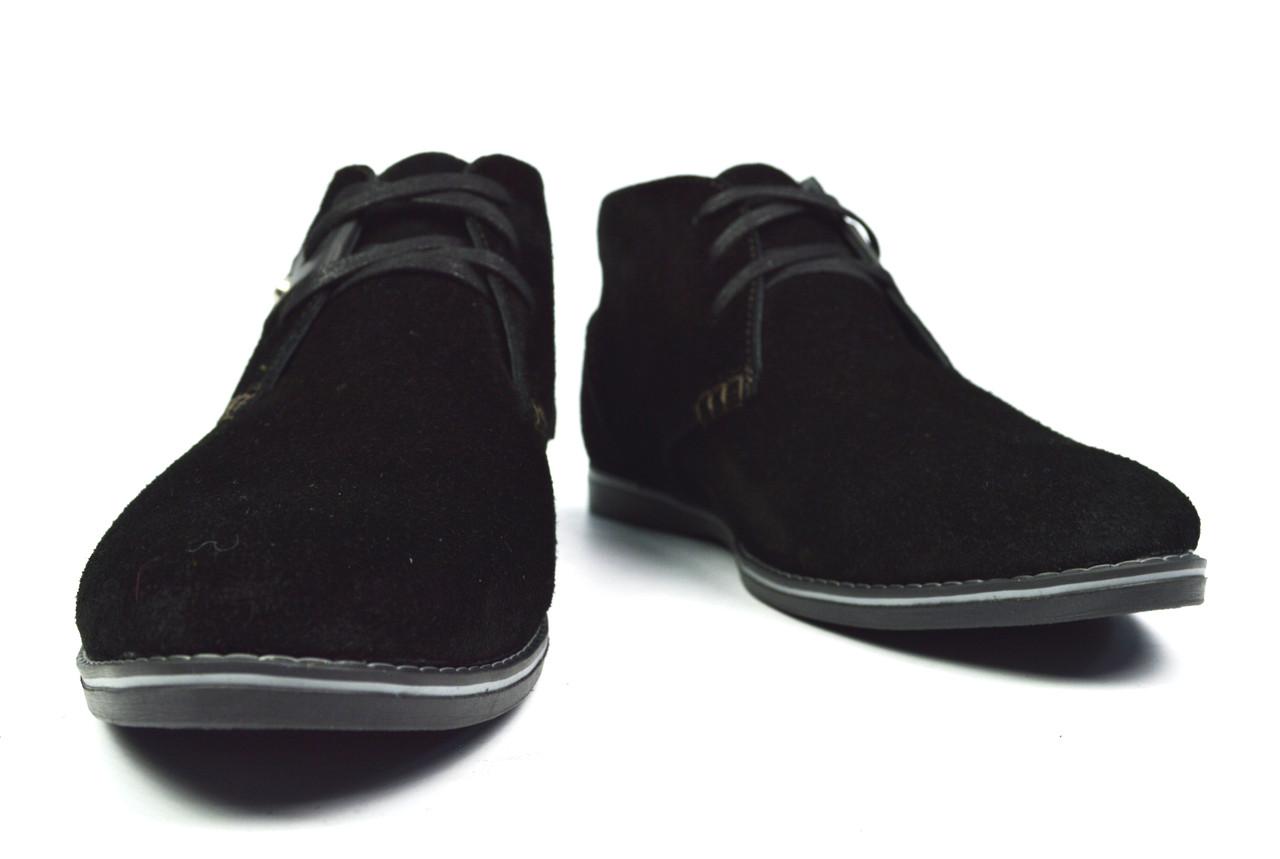 e1ebdacd0 ... Черные замшевые мужские зимние ботинки-дезерты LUXART на меху (шерсть),  ...