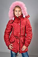 Детская парка с натуральным мехом для  девочек, фото 1