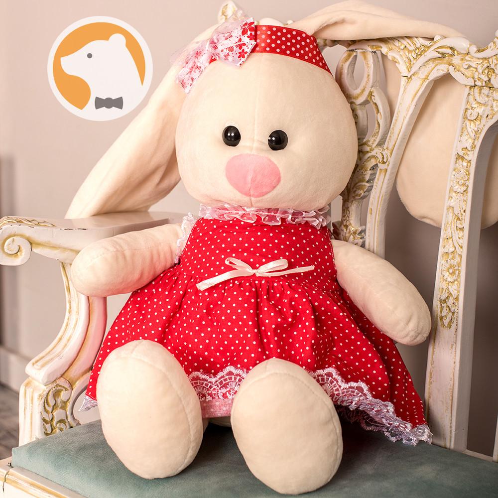 Заяц Тильда Бася красный мягкая игрушка