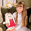 Заяц Тильда Бася красный мягкая игрушка, фото 2
