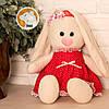 Заяц Тильда Бася красный мягкая игрушка, фото 5