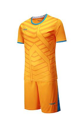 Футбольная форма Europaw 015 оранжевая, фото 2