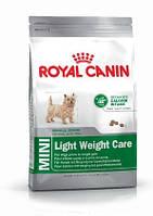 MINI LIGHT WEIGHT CARE 0,8кг сухой корм для взрослых собак мелких пород со склонностью к ожирению.