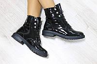 Ботинки лаковые кожаные, сезон осень или зима