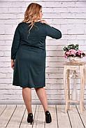 Женское платье из трикотажа с карманами 0617 цвет зеленый / размер 42-74 / большие размеры, фото 4