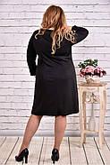 Женское платье из трикотажа с карманами 0617 цвет черный / размер 42-74 / большие размеры, фото 4