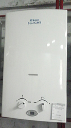 Газовая колонка Ekoo Star Gas димоход белый глянец 10 лит