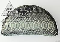 Женская вместительная косметичка из натуральной кожи питона