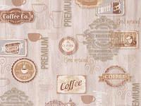 Обои на стену, бежевые, бумажные влагостойкие, B56,4 Бариста 8113-01, 0,53*10м