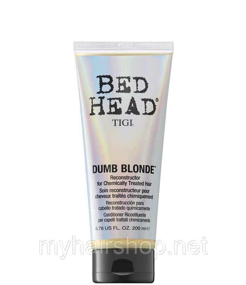 Восстанавливающий кондиционер для блондинок и поврежденных волос TIGI Dumb Blonde Conditioner 200 мл