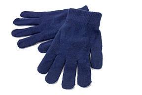Женские трикотажные перчатки вязаные 5067-2 синий, фото 3