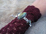 Браслет с лабрадором. Великолепный браслет с камнем лабрадор в серебре., фото 6