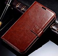 Кожаный чехол-книжка для Samsung Galaxy A5 A510 (2016) коричневый